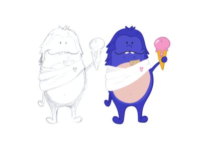 "The little ""get well soon"" monster procreate ipadpro ipad flatdesign icons ux design ui design avatardesign icondesign avatar illustration"