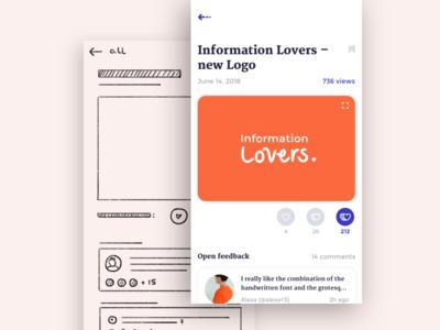 Feedback App app appx design ui design screendesign appdesign interfacedesign ux design