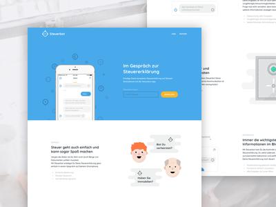 Steuerbot Website (tax chatbot) ux design ui design screendesign chatbot website webdesign