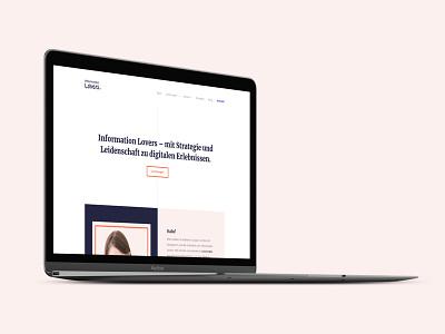 Information Lovers Website freelancer freelancing portfolio screendesign interfacedesign ux design ux ui ui design webdesign website