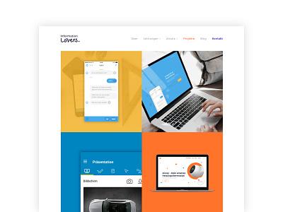 Information Lovers Website – Projects case study portfolio website interfacedesign ux ux design ui screendesign webdesign flat design flat ui design