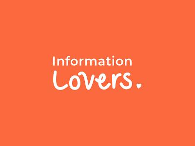 Information Lovers Logo typography handwrittenlogo handwritten branding logo