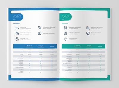 Folder Design - AxPré/AxPós | INSIDE illustrator typography ui print print design brand branding design graphic