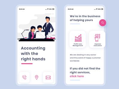 App Design for Account Management Service Provider