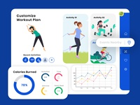 Dashboard Design for Workout Activities