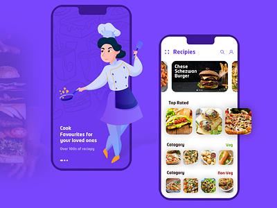 App Design to Learn Cooking Online freelancer hire foodie recipe online recipe app cooking app food and drink food app recipe cooking food