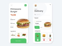 App Design for Order Food Online food app design food app ui food apps online food order online food online shopping online store online shop food illustration food and drink food app food