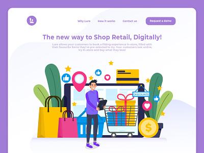 New Approach to Retail Shop Digitally ui design company website design company website designing online shop digital shop retail shop website designer website design