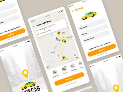 Cab Booking App Design