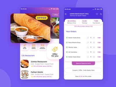 Restaurant Aggregator and Food Delivery Startup App Design