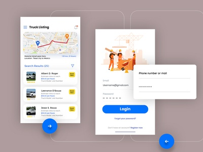 App Design for Construction Material Supply Company