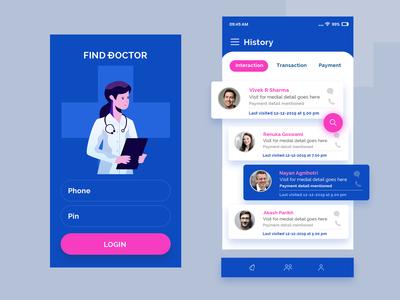 Find A Doctor Mobile App Design