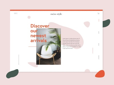 Swiss Style furniture company website web minimal ui furniture swiss graphicdesign webdesign