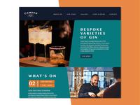 Camden Gin Bar Website