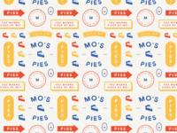 Mo's Pies Logo Pattern