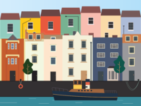 Bristol Harbour Illustration