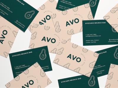 Avo Brunch Bar Business Cards