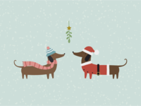 Christmas Dogs Illustration