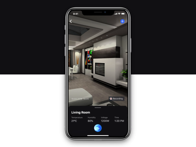Smart Home App: Control Support ai home voice assistant wizard widget voice ux ui smart settings security react native motion ios 12 exploration controller camera assistant app animation