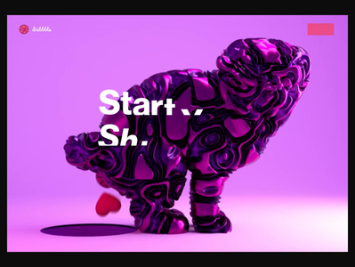 ❤️Dribbble ❤️ web dribbble dog dogs octane loop pug purple light hero ae abstract bright colors cinema 4d ui c4d interaction animation 3d