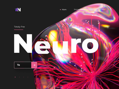 🧠 Neural Network Website 🧠 crystal website web neural network neural ux hero abstract design cinema 4d ui c4d animation 3d