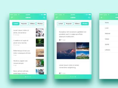 News Feed Design appdesign mobiledesign digitaldesign user interface ux ui