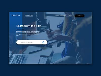 Header concept interface web web design e-learning ui header