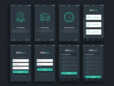 Courier App Design debut app design delivery app courier app user interface ui design