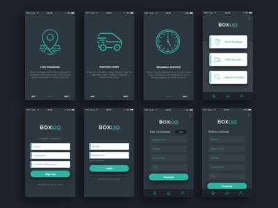 Courier App Design debut app design delivery app courier app user interface ui design