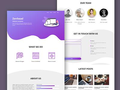 Zenhead Web Template ui design web ux ui web design responsive web template
