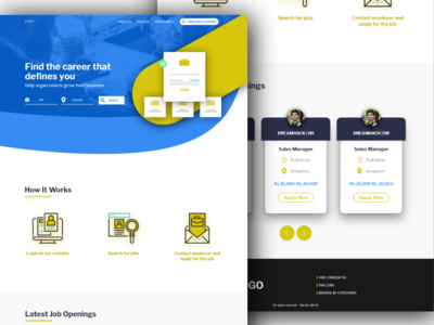 Job Portal Website design minimal web job portal creative ui user interface design web design