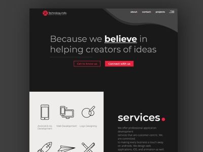Web Agency website design frontend design web design web user interface ux ui