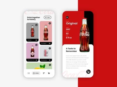 Coca-Cola UI Design