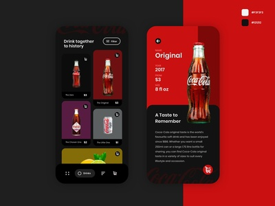 Dark Mode for Coca-Cola Design
