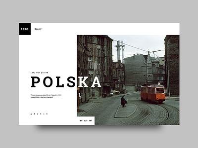 Polska typography web design gadensk wroclaw ui city web graphic design 1981poland polska poland