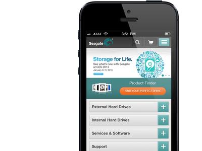 Seagate's New Mobile Site