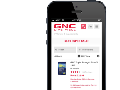 GNC's New Category Page