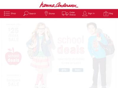 Hanna Anderson Tablet Header