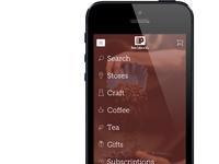 Peet's Coffee & Tea Mobile Navigation