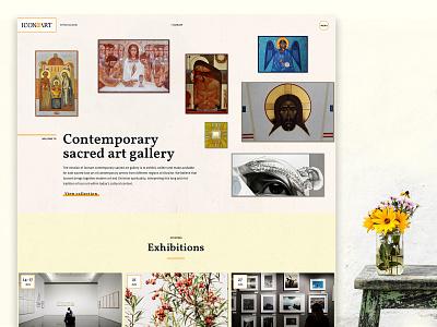 IconArt online gallery online catalogue exhibition landing animation design agency ukraine iconart icons gallery web design la soft ui ux lasoft