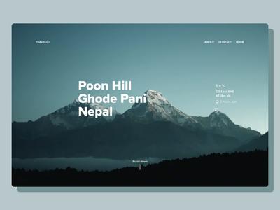 Nepal Trip | Mountain website project illustration development dashboard design agency system web design lasoft ux ui