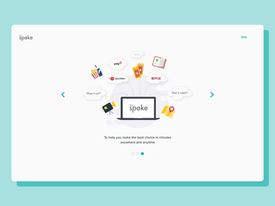 Recommendation Platform - The Spoke animation illustration development design agency recommendation  system ui ui design ukraine  ux ux design web design la soft ux design dashboard recommendation ui ux restaurant
