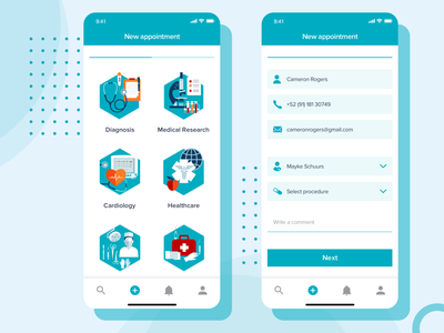 Medical App illustration animation development system design agency web design lasoft ux ui