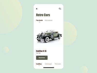 Retro Cars App mobile app design mobile design mobile app mobile ui mobile platform illustration animation agency ukraine development la soft dashboard system design agency web design lasoft ux ui