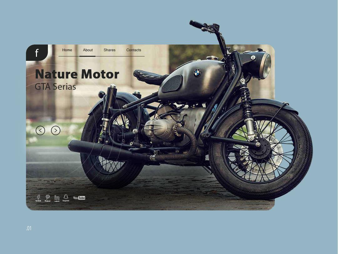Motorcycle site page flotweb ux-ui design uidesign webdesign site landing page