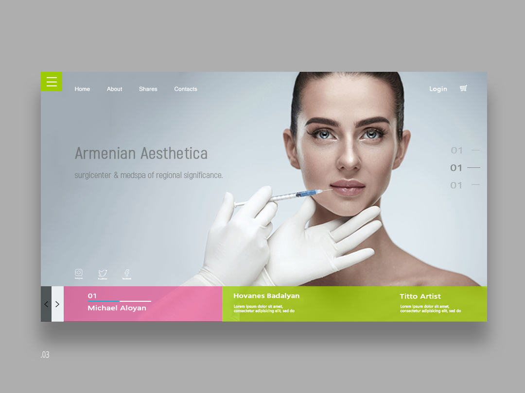 Website for the company Armenia Aesthetic design website site agency webdesign ux-ui flotweb uidesign landing page