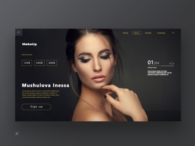 Site for a makeup services company