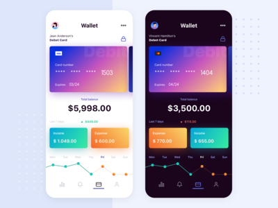 Gradient Bank Wallet App