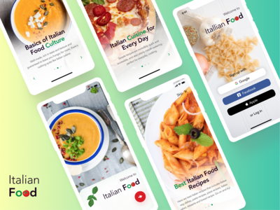Italian Food App 🍕🥗🧁
