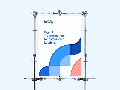 Intoit Digital Poster brand vector illustration design logo icon branding geometry modular module